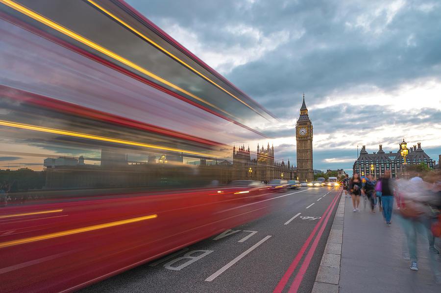 London Rush Hour Photograph by Rob Maynard