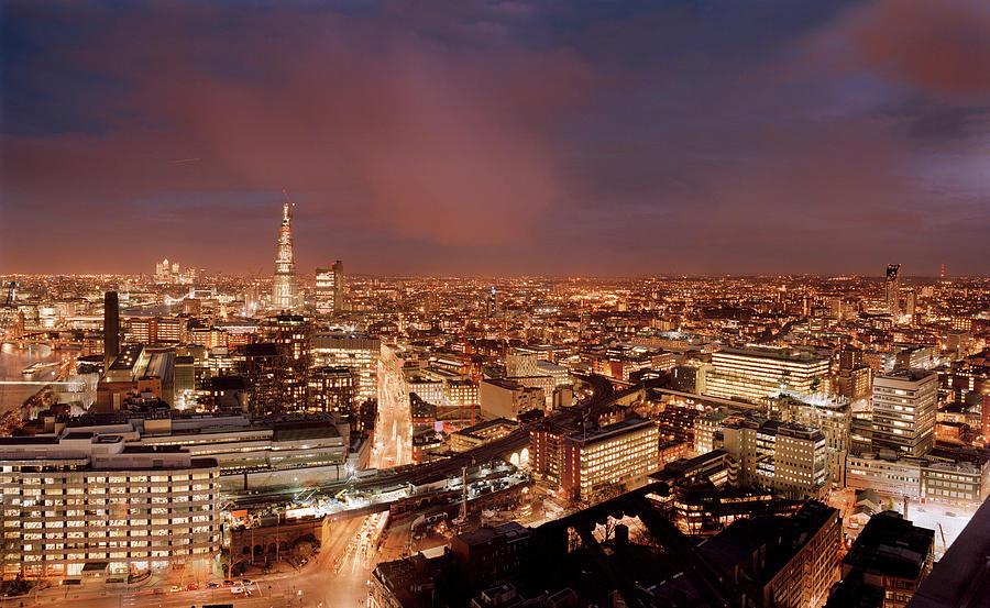 London Skyline Looking East Photograph by Peter Kindersley