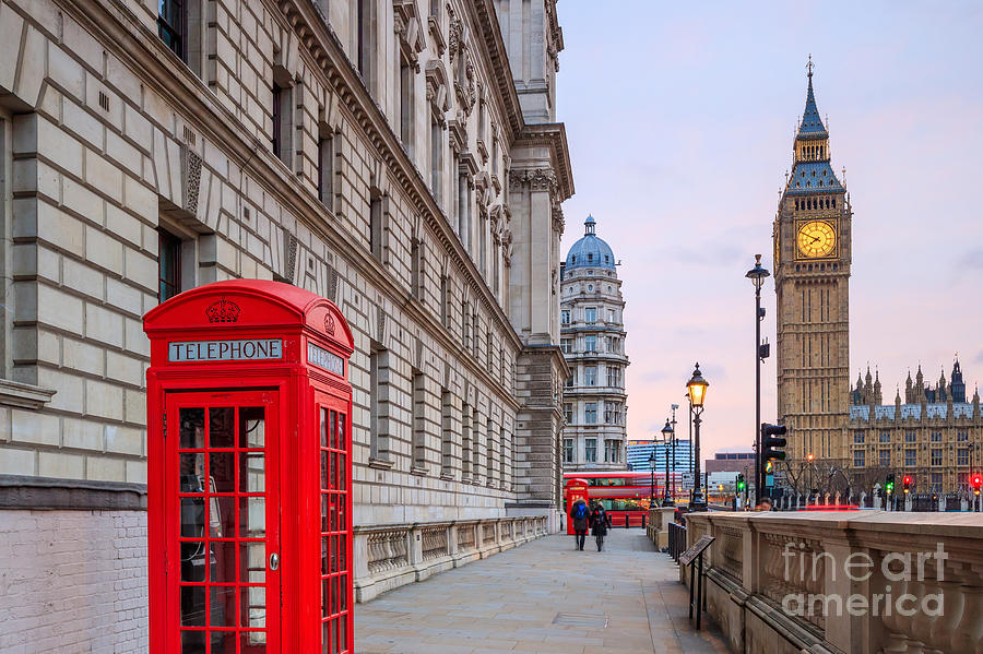Big Photograph - London Skyline With Big Ben And Houses by F11photo