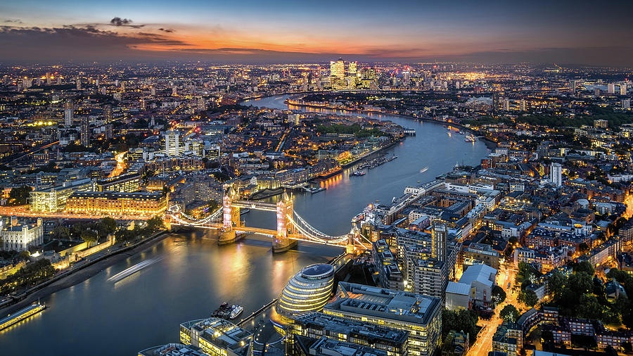 London Skyline With Tower Bridge At Photograph by Tangman Photography