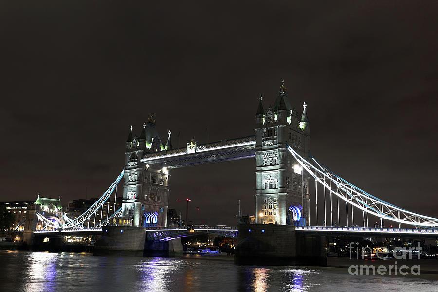 London Tower Bridge at night by Steven Spak