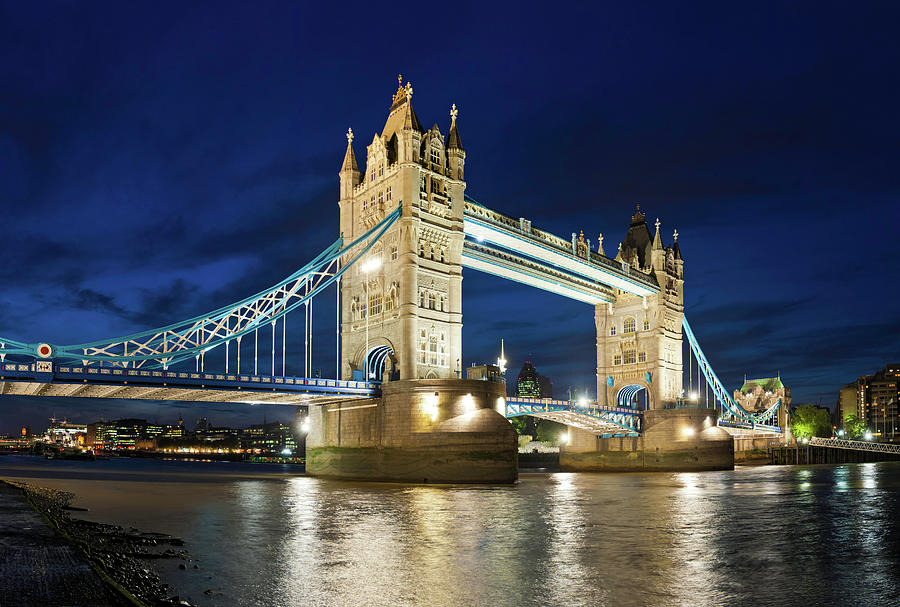 London Tower Bridge Iconic Landmark Photograph by Fotovoyager