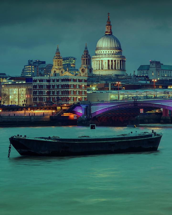 Londons Night Skyline Photograph by Roland Shainidze Photogaphy