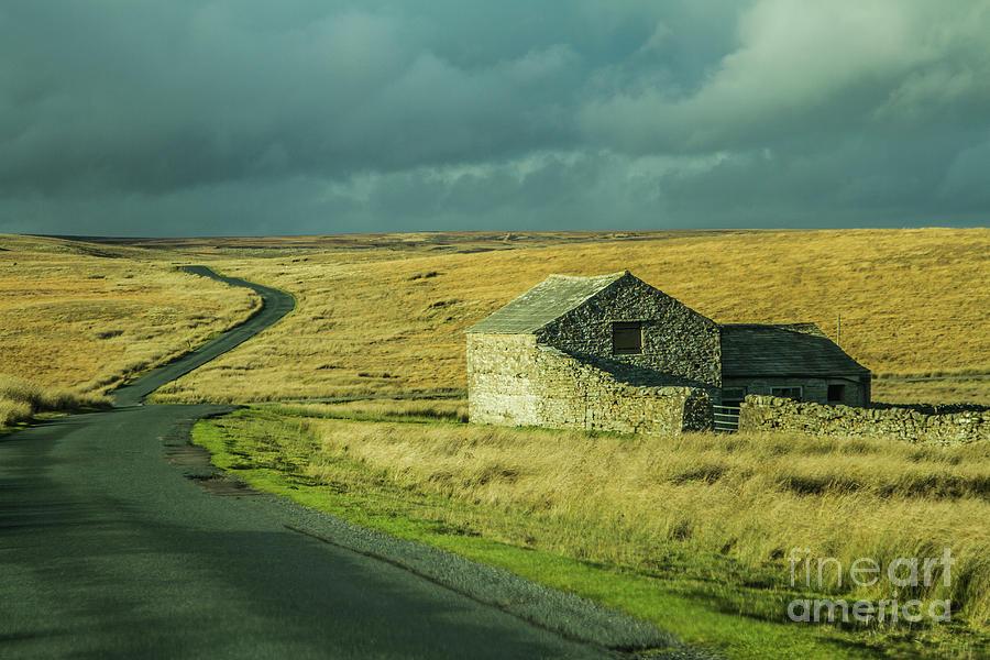 Lonely Barn I by Sandra Cockayne ADPS