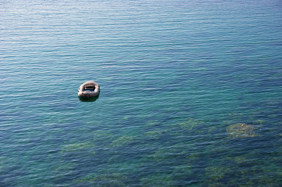 Lonely boat by Anna Kluba