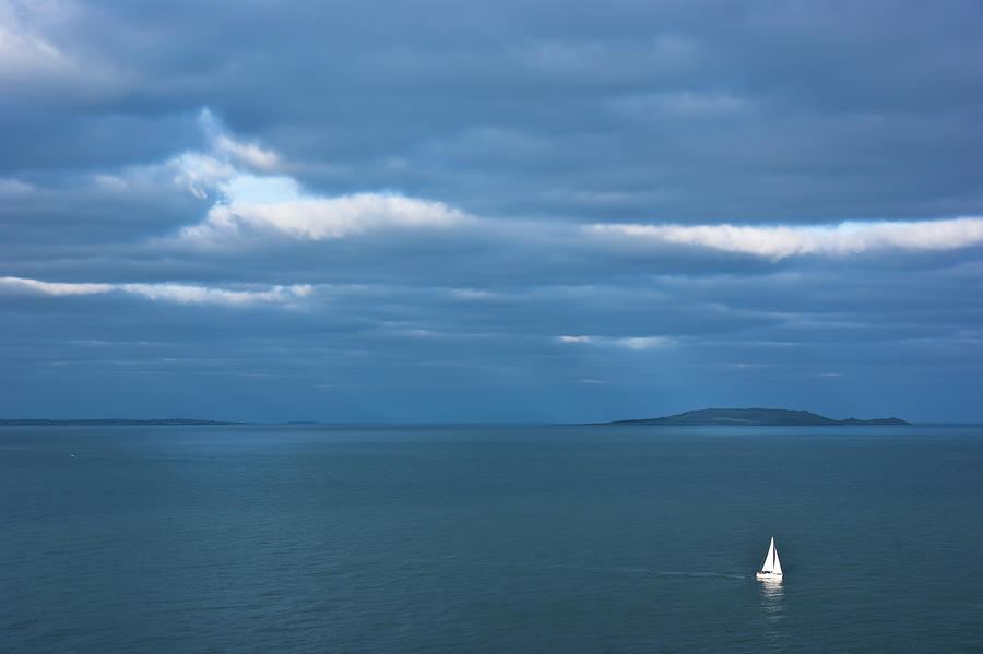 Lonely sail by Anna Kluba