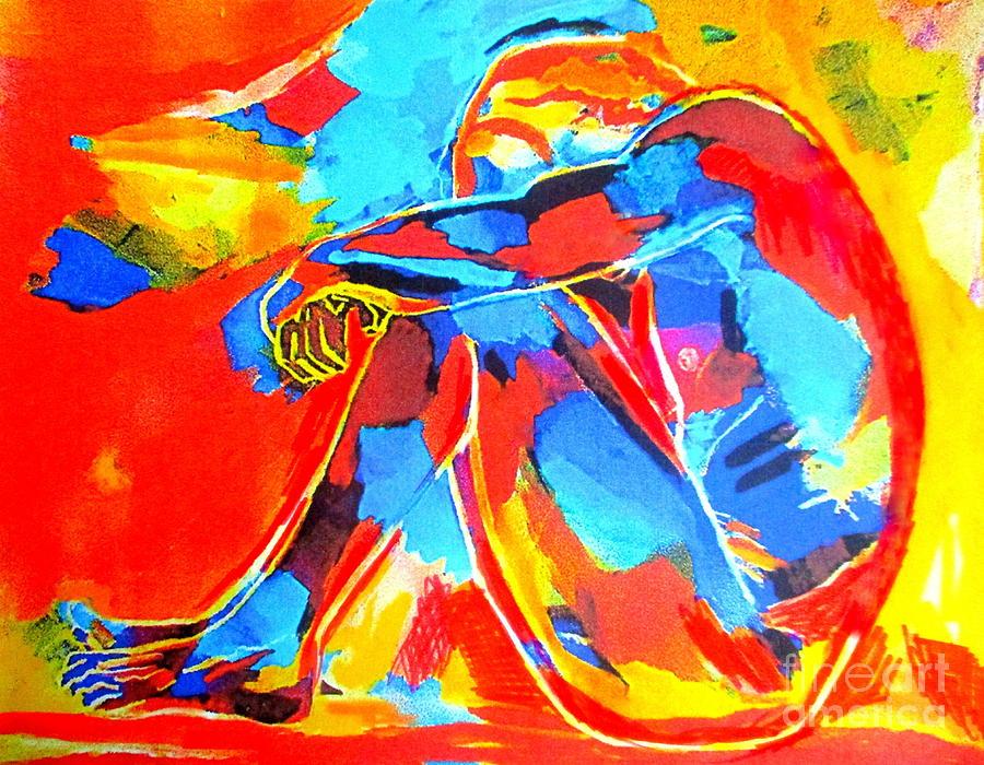 Lonesome figure by Helena Wierzbicki