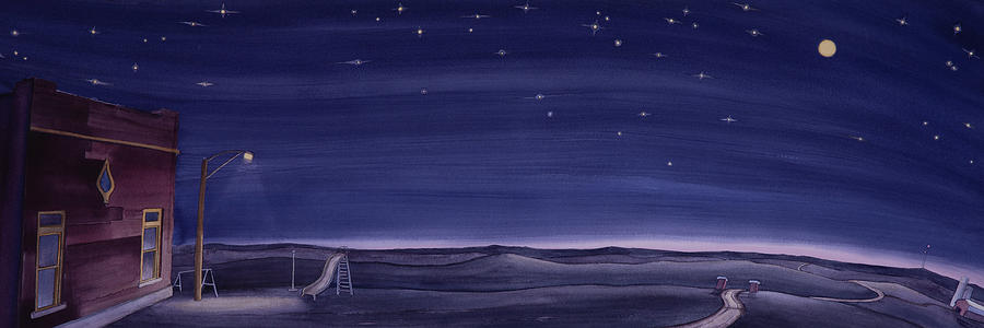 Lonesome Playground at Night by Scott Kirby