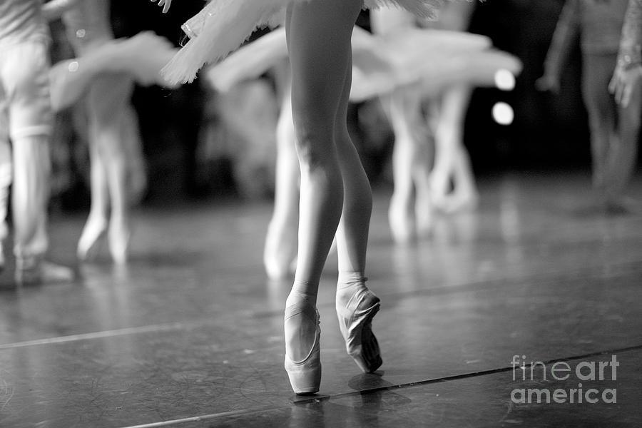 Feet Photograph - Long And Lean Ballet Dancers Legs by Anna Jurkovska