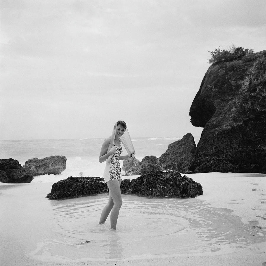 Long Bay Beach Photograph by Slim Aarons