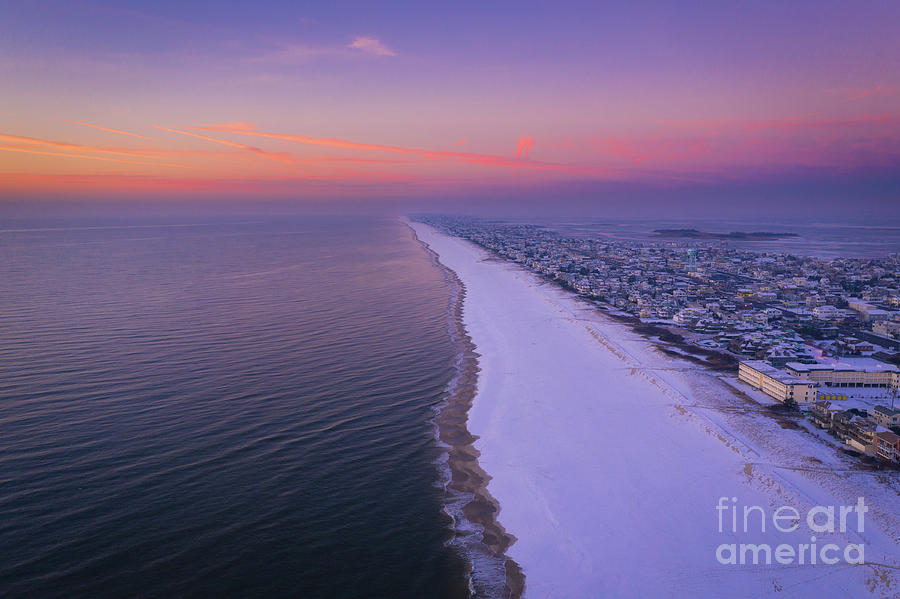 Long Beach Island Aerial View by Michael Ver Sprill
