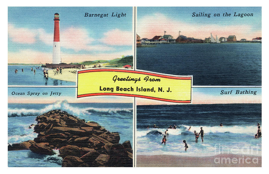 Long Beach Island Greetings - Version 3 by Mark Miller