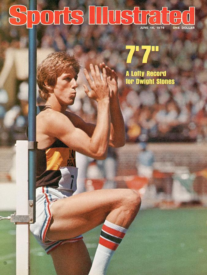 Long Beach State Dwight Stones, 1976 Ncaa Championships Sports Illustrated Cover Photograph by Sports Illustrated