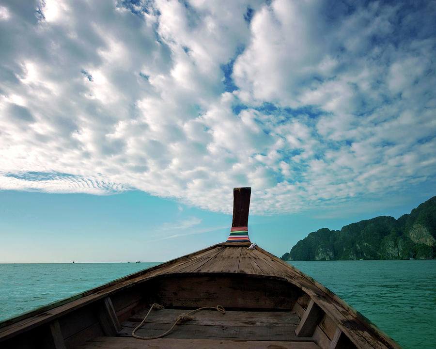 Long Boat In Andaman Sea Photograph by Sharon Lapkin
