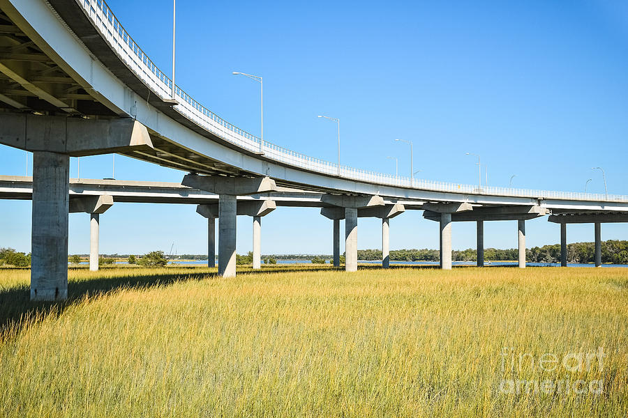 Long concrete bridge  by Steven Liveoak