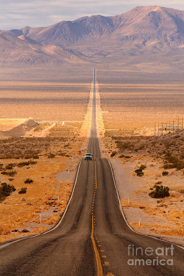 Southwest Photograph - Long Desert Highway Leading Into Death by Nagel Photography