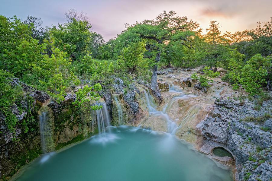 Long Exposure of Edge Falls Crossing - Kendalia Kendall County - Texas Hill Country by Silvio Ligutti