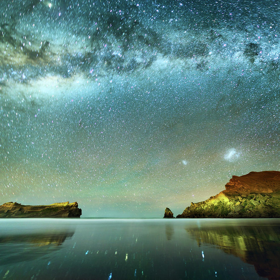 Long Exposure Of Stars Photograph by Piskunov
