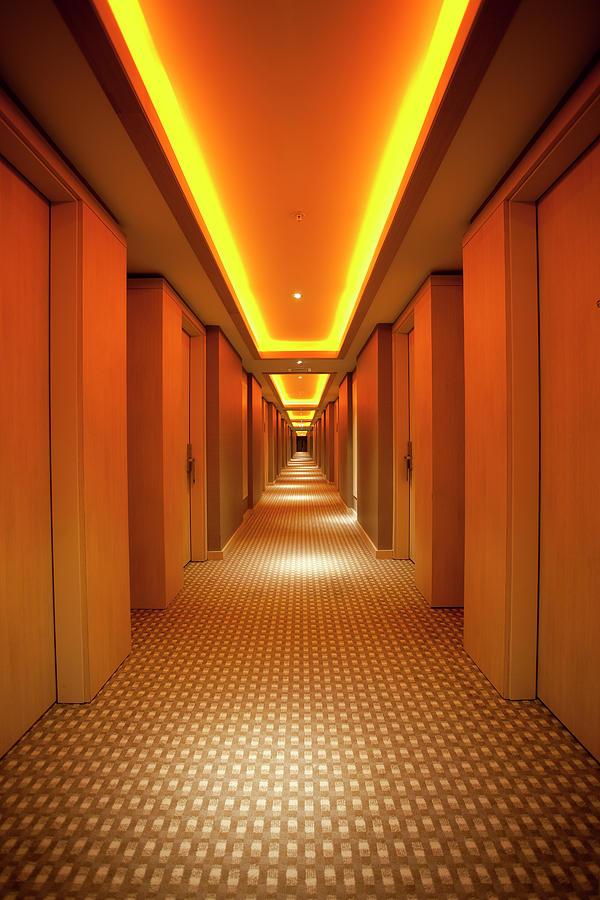 Long, Narrow Corridor With Retro Themed Photograph by Dogayusufdokdok