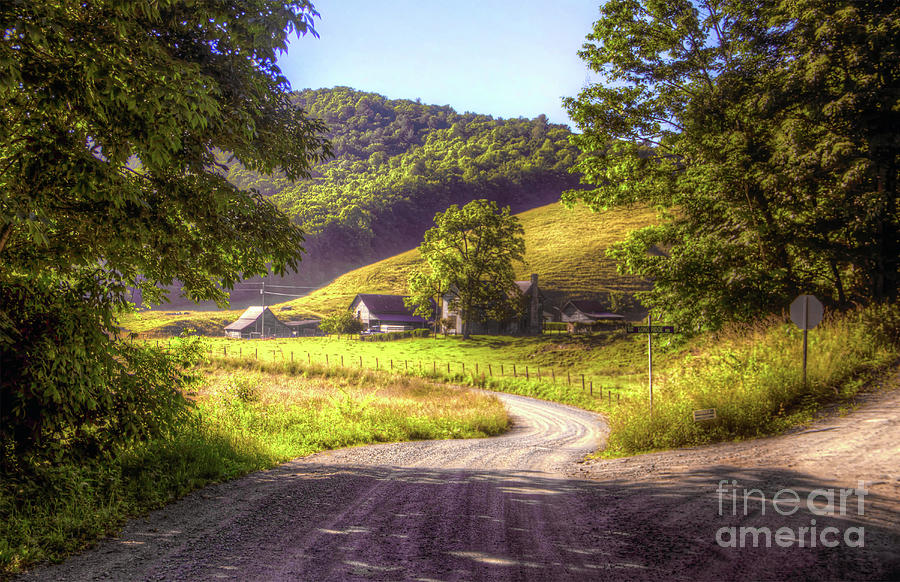 Rural Photograph - Long Ridge Rd by James Foshee