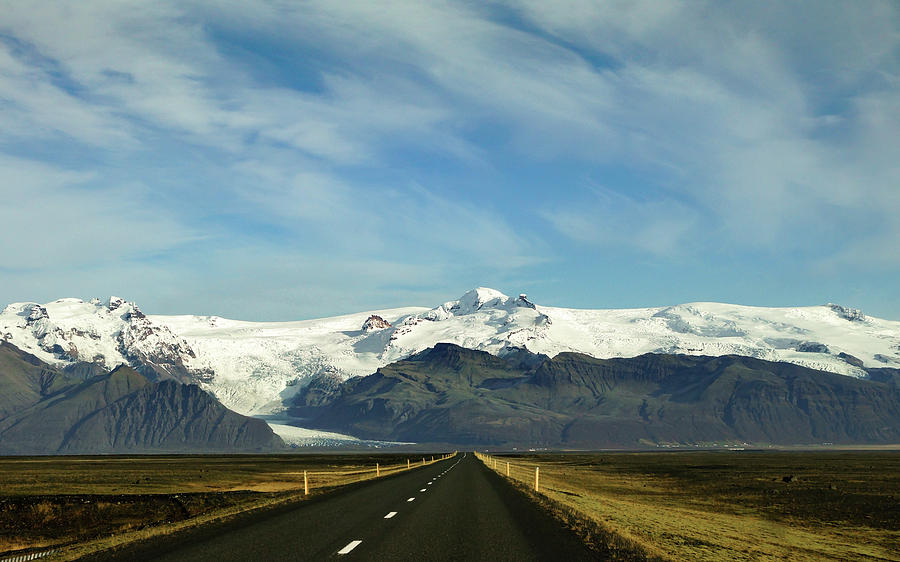 Iceland Photograph - Long Road by Framing Places