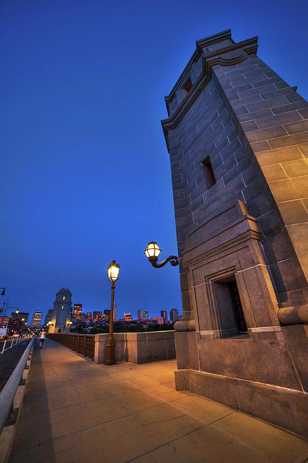 Longfellow Bridge - Boston Nights by Joann Vitali
