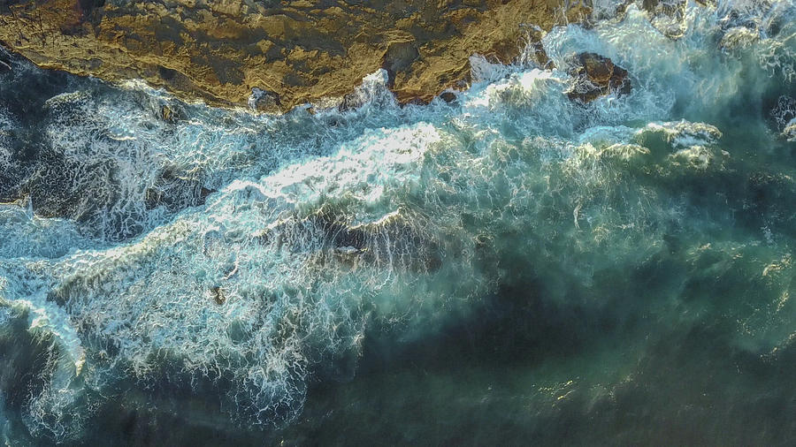 Drone Photograph - Longreef Waves by Chris Cousins
