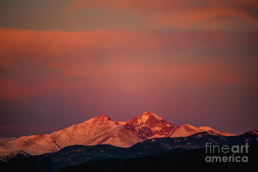 Longs Peak Breaking Dawn by Jon Burch Photography