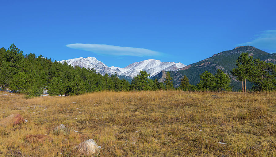 Pictures Photograph - Longs Peak From Upper Beaver Meadows by Tom Potter