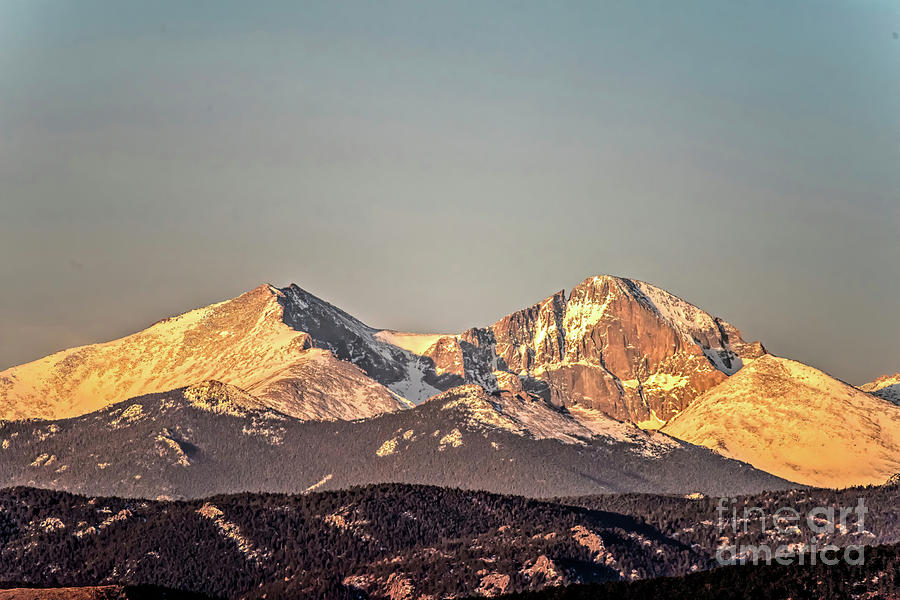 Longs Peak Spring Morning Sun by Jon Burch Photography