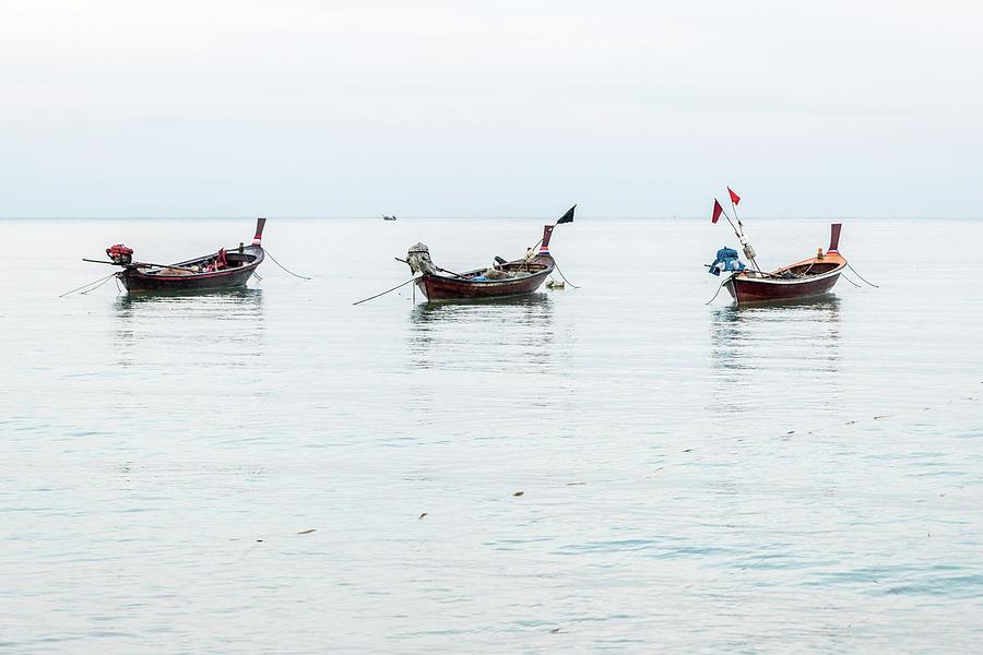 Phuket Photograph - Longtail Boats At Rest by Ian Robert Knight