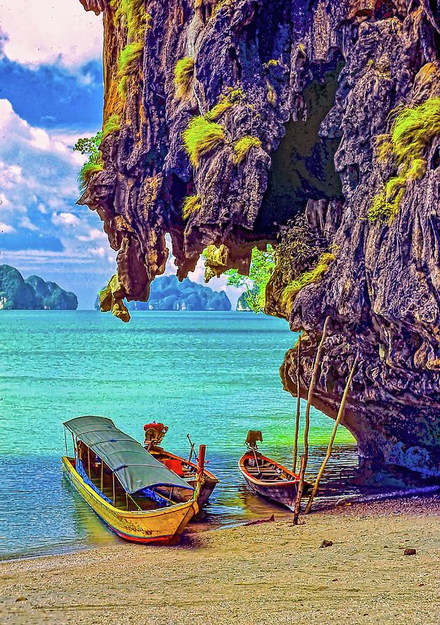 Longtail Boats - Phang Nga Bay - Thailand Photograph