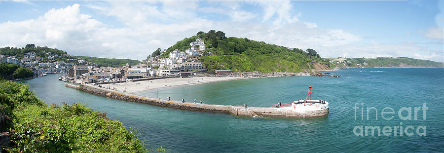 Looe Estuary Panorama by James Lavott