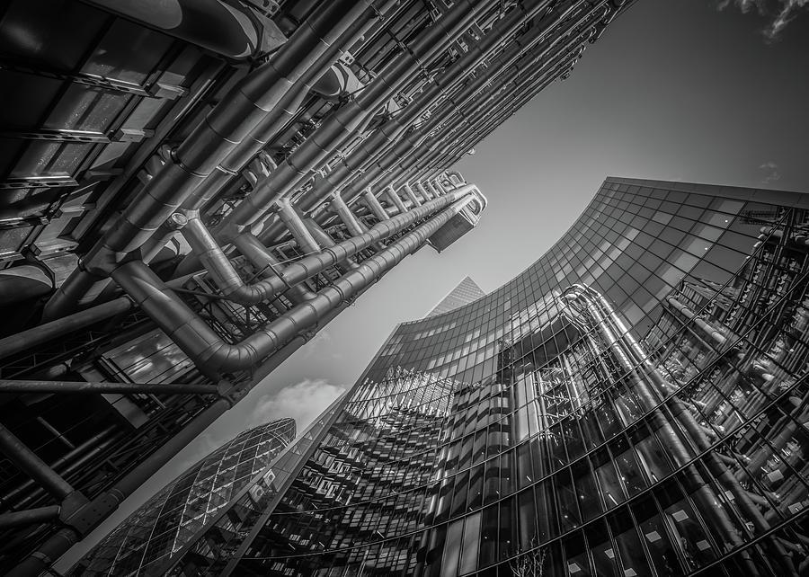 Look Up London No 2 Mono by Chris Fletcher