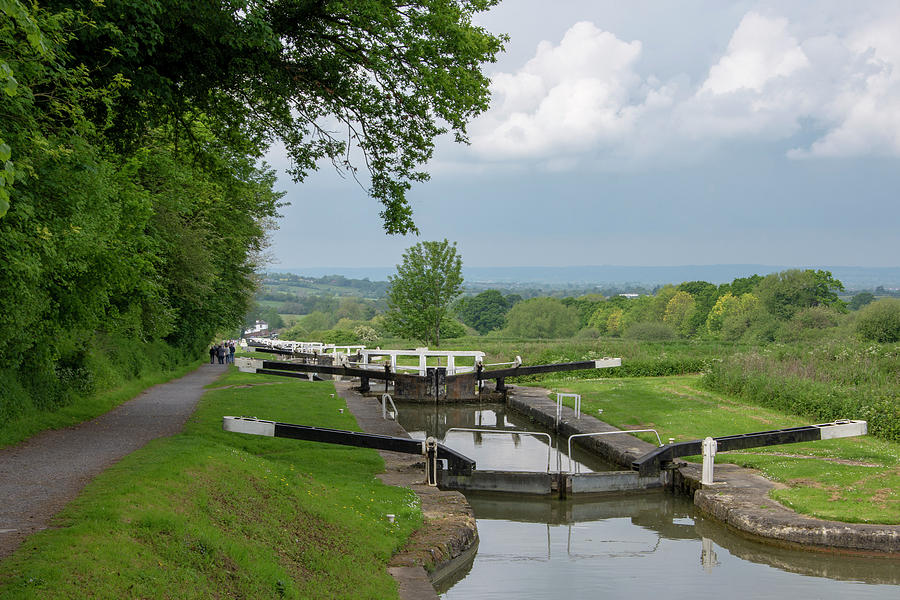 Canal Photograph - Looking Down Caen Hill by Steev Stamford
