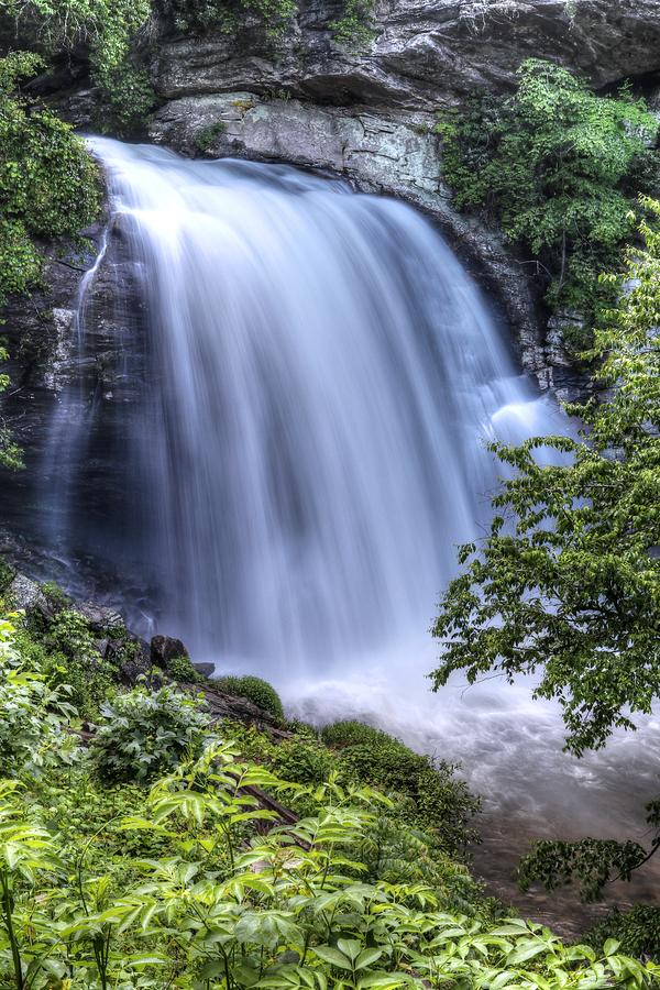 Looking Glass Falls Overflowing Pisgah National Forest by Carol Montoya