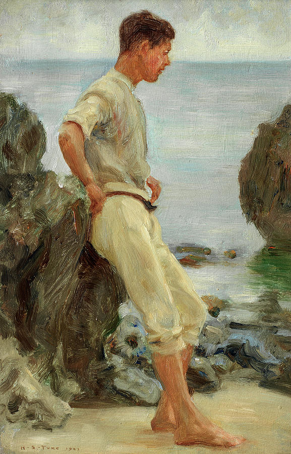 Henry Scott Tuke Painting - Looking Out To Sea, 1927 by Henry Scott Tuke