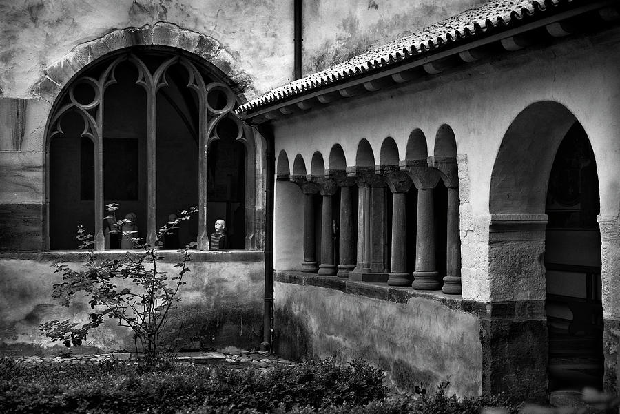 Looking through the window of the cloister BW by RicardMN Photography