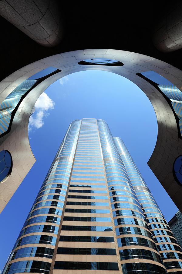Looking Up At A Shiny Building At Photograph by Samxmeg