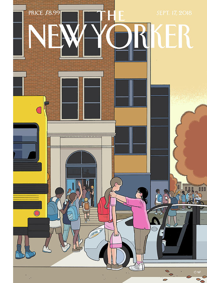 Looking Up Painting by Chris Ware
