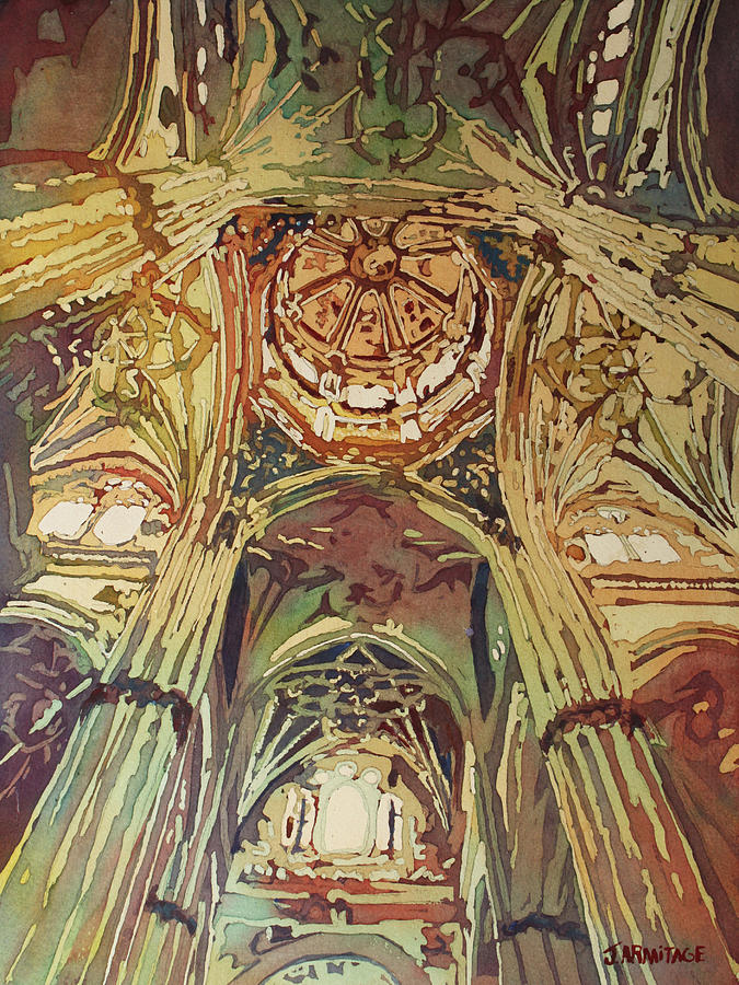 Looking Up Salamanca Cathedral by Jenny Armitage