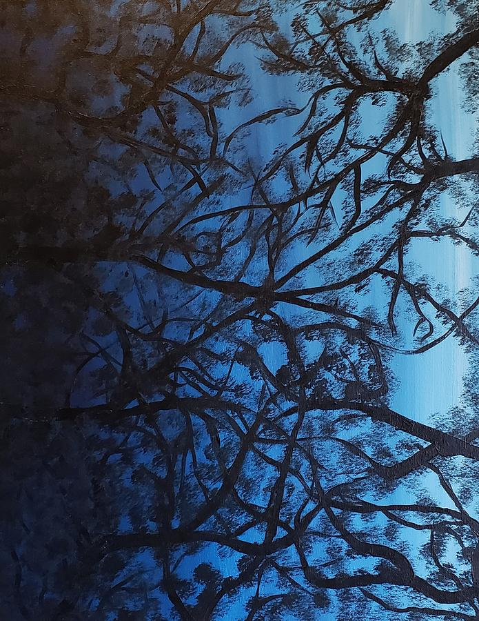 Paint Painting - Looking up through the trees by Kathlene Melvin
