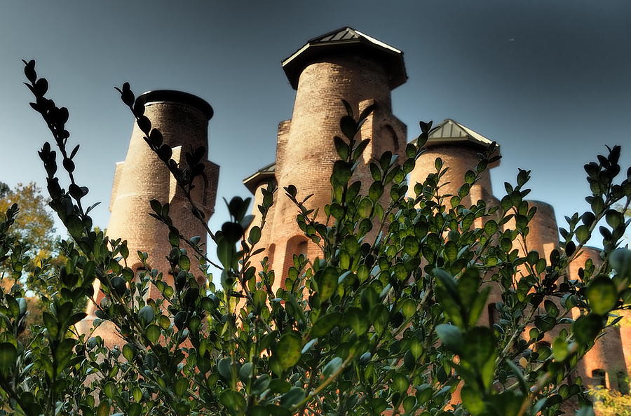 Looking Upward at Cement Kilns by Jacqueline M Lewis