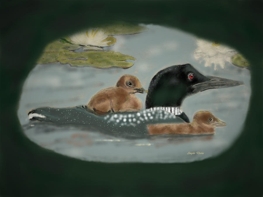 Loon Family Outing by Angela Davies