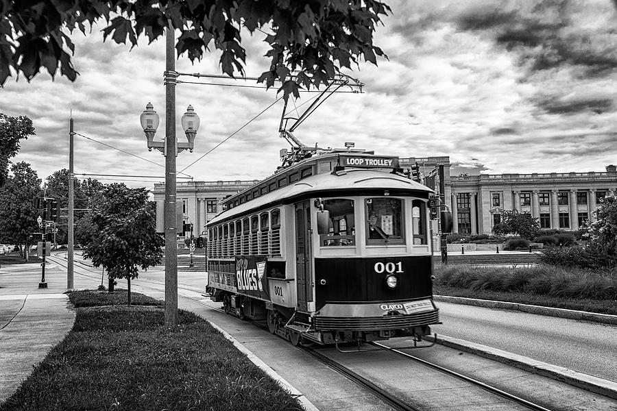 Loop Trolley 001 Forest Park St Louis Monotone GRK4937_07112019 by Greg Kluempers