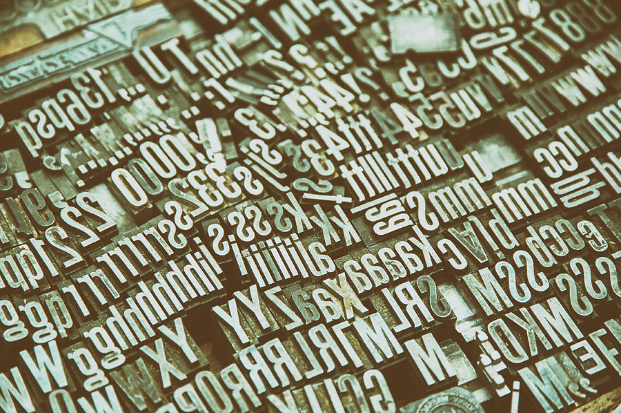 Loose Letters From Typewritter Photograph