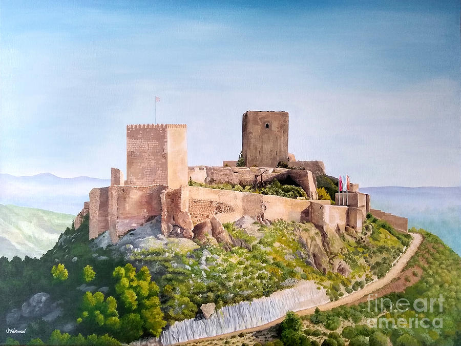 Castle Painting - Lorca Castle by Julia Underwood