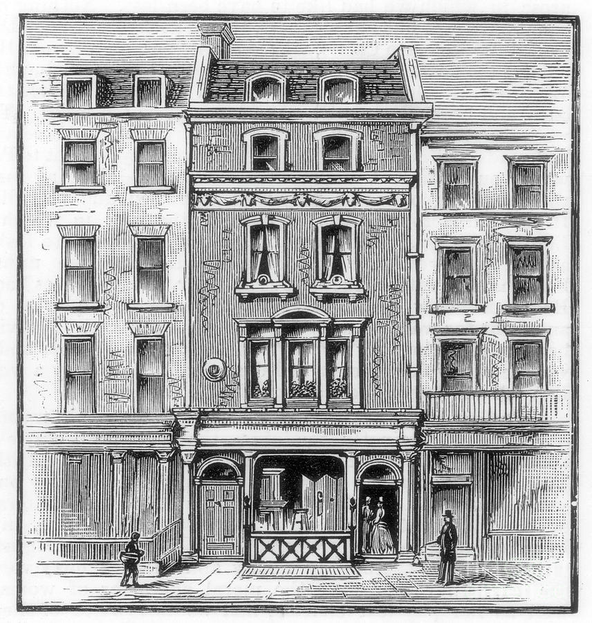 Lord Byrons Birthplace, Holles Street Drawing by Print Collector