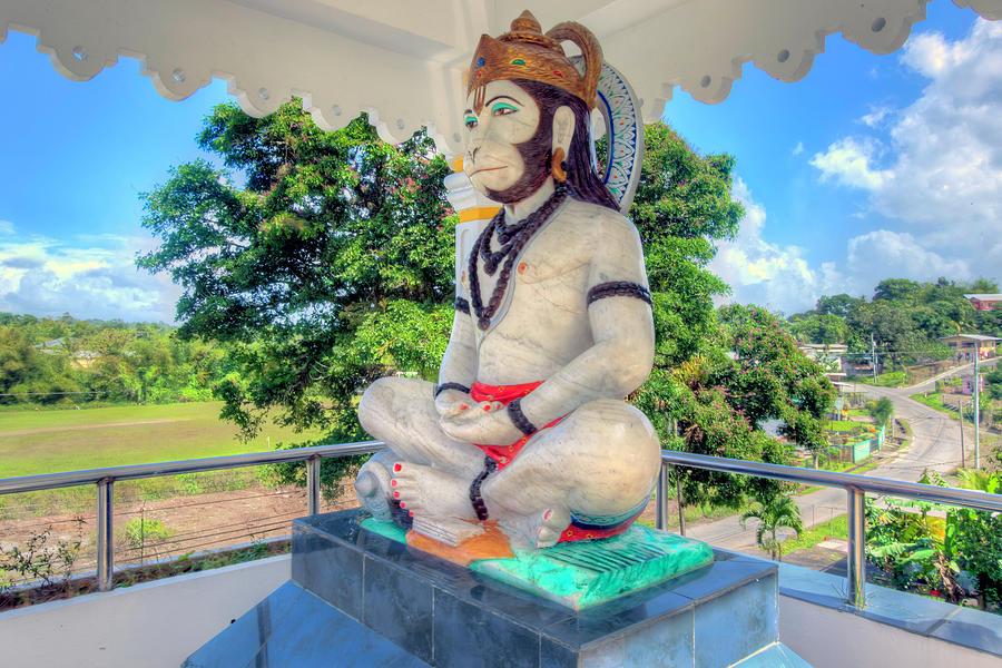 Lord Hanuman Murti at Triveni Mandir by Nadia Sanowar