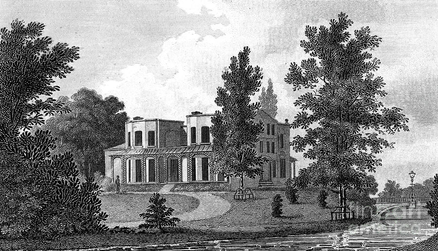 Lord Nelsons Villa At Merton, 19th Drawing by Print Collector